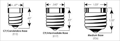 light bulb light bulb base sizes stunning design comparison