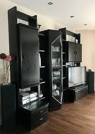 wohnzimmerschrank schwarz holz antik hochwertig massiv