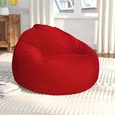 Fuf Bean Bag Chair Medium by Zipcode Design Medium Polystyrene Bean Bag Chair U0026 Reviews Wayfair