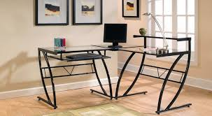 z line belaire glass l shaped computer desk crustpizza decor