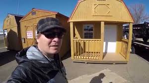 Cheap Shed Roof Ideas by Tiny House Idea Cheap Portable Shed Youtube