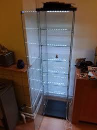 detolf glass door cabinet lighting