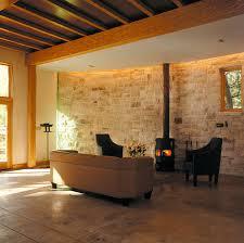 steinwand im wohnzimmer schöner wohnen