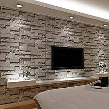 baporee gestapelte stein tapete des ziegelstein 3d moderne wandverkleidung pvc rollen tapete ziegelstein wand hintergrund tapete grau für wohnzimmer