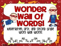 Wonder Wall Of Words Superhero Themed Word Cards