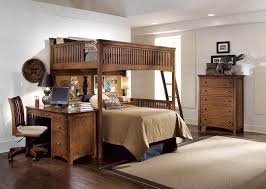 full size loft beds wood netral — Modern Storage Twin Bed Design
