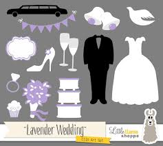 Lavender Wedding Clip Art Light Purple Wedding Clipart Bridal Shower Clip Art Wedding Dress Tuxedo Wedding Cake from LittleLlamaShoppe on Etsy Studio