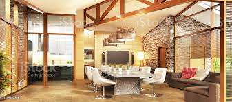 Mountain Kitchen Interior Landhausstil Küche Großes Landhaus Mit Küche Und Wohnzimmer Innenarchitektur Stockfoto Und Mehr Bilder Architektur