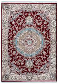 casa padrino luxus kunstfaser teppich mit fransen rot creme türkis verschiedene größen rechteckiger wohnzimmer teppich im orientalischen stil