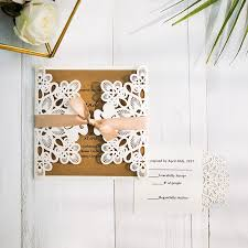 Pocket And Kraft Invitation For Wedding SWWS011 StylishWedd