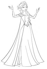 Elsa Coloring Pages To Print Color Frozen Book