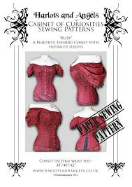 Versailles Tile Pattern Template by Steampunk Gothic Ruby Corset Sewing Pattern Off