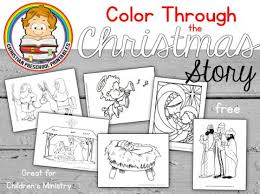 Color Through The Christmas Story FREE Bible Printables