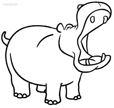 Hippo Coloring Pages For Kids