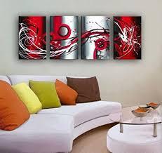 outh grau weiß schwarz rot groß wandbild auf leinwand monder ölgemälde abstrakt home dekoration wohnzimmer decor home decor deco