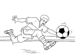 Soccer Player Kid Colouring Pages Page 3