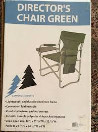 Camping Comforts Green Directors Chair With Full Back And Side Folding Table 0 All Seasons Equipment Heavy Duty Metal Rocking Chair W The Top Outdoor Patio Fniture Brands Cane Back Womans Hat Victorian Bedroom Remi Mexican Spalted Oak Taracea Leigh Country With Texas Longhorn Medallion Classic Porch Rocker Ladderback White Solid Wood Antique Rocking Chair Wood Rustic Pagadget Worlds Largest Cedar Star Of Black
