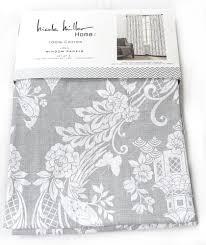 nicole miller gray phoenix bird pagoda pair 96 window curtains