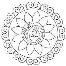 Click To See Printable Version Of Diwali Rangoli Coloring Page