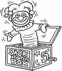 Jack In The Box Clipart Black And White
