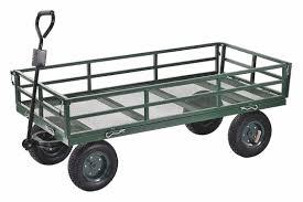 100 Wagon Truck GRAINGER APPROVED 1400 Lb Load Capacity Pneumatic