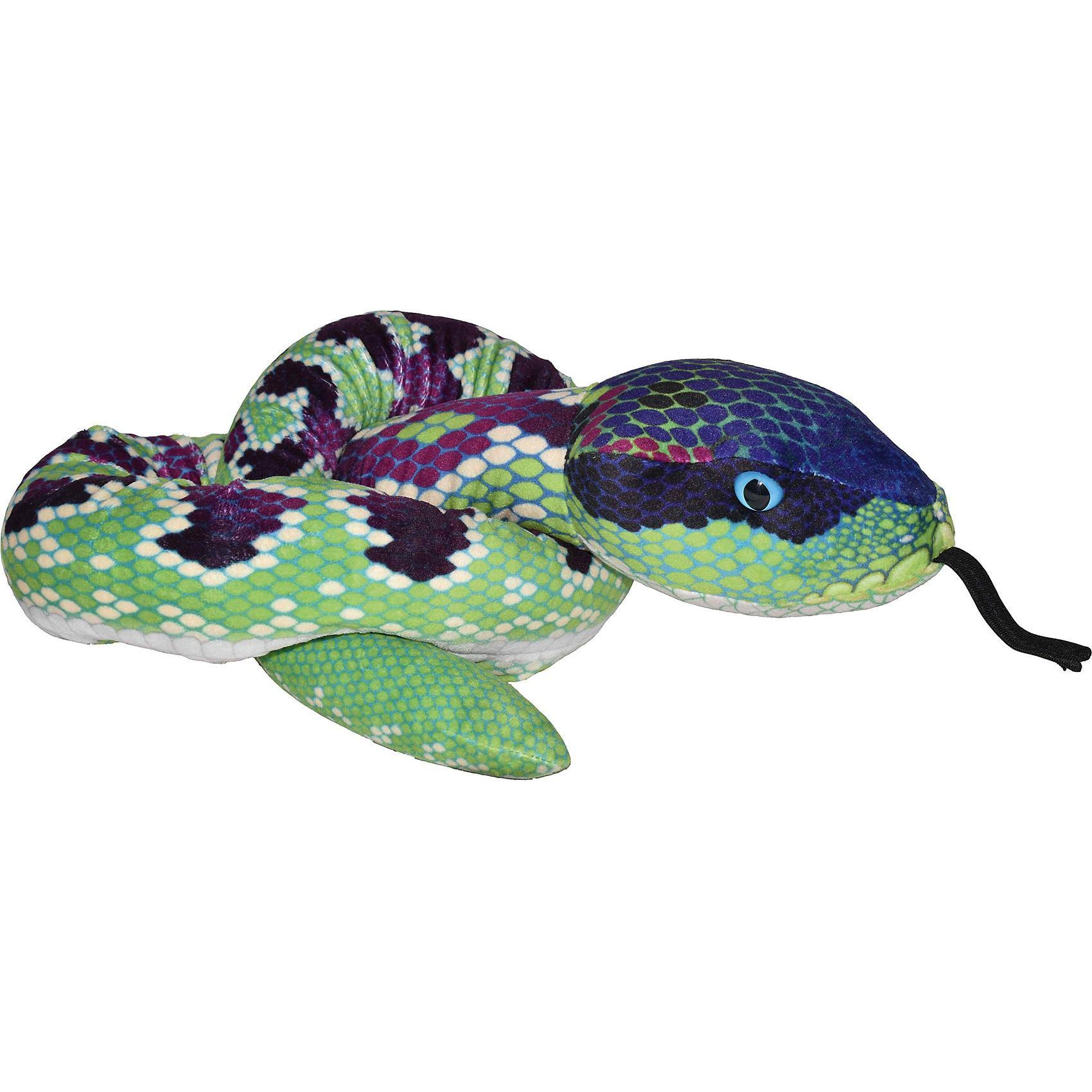 Purple Scale Print 54 inch Plush Green Snake by Wild Republic