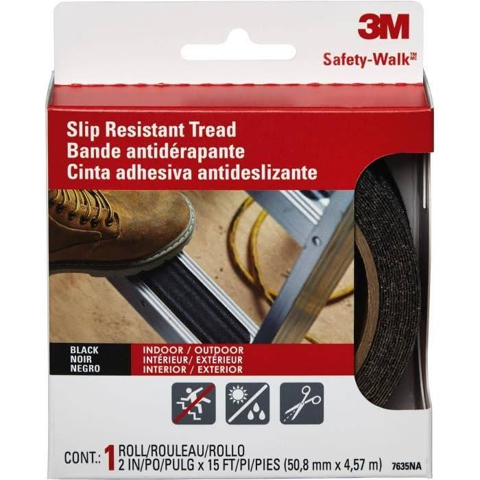 3M Safety-Walk Outdoor Slip Resistant Tread - Black, 2in x 15ft