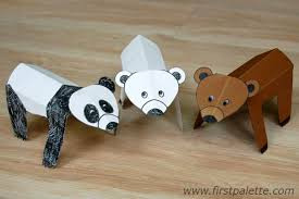 Folding Paper Zoo Animals Craft