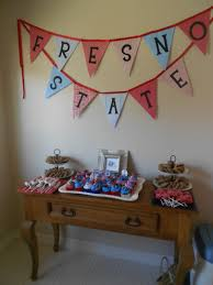 Graduation Table Decorations Homemade by Fresno State Graduation Bunting Things I U0027ve Actually Made