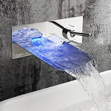 jruia chrom wandmontage led wasserfall bad wasserhahn 2 loch unterputz waschtischarmatur einhebel mischbatterie badarmatur waschbecken armaturen