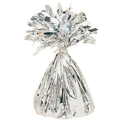 Amscan Decorative Small Foil Party Balloon Weight - 240ml, Silver