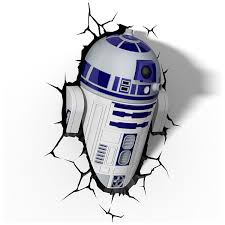 Star Wars R2 D2 3D LED Wall Light Amazoncouk Kitchen Home