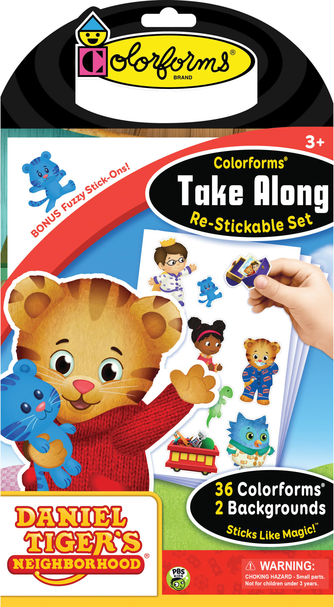 Colorforms Take Along Re-stickable Sticker Set - Daniel Tiger