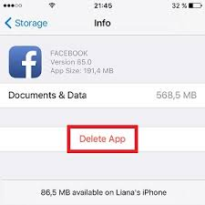 Delete And Re Install App To Free Up iPhone Storage Space