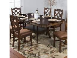 Sunny Designs Santa Fe Adjustable Height Dining Table W 2 Butterfly