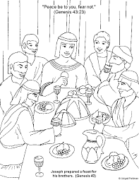 Joseph Forgives His Brothers Coloring Sheet