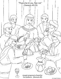 Joseph Forgives His Brothers Coloring Sheet