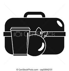 Apple Lunch Box Icon Simple Style
