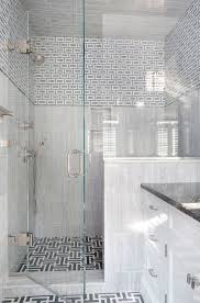 gray maze tile floor contemporary bathroom