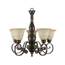 hton bay 5 light aged bronze chandelier with tea stained