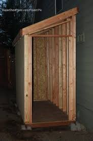 4x10 lean to shed plans end door landscape gardening pinterest