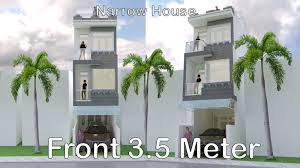 100 Narrow House Designs Modern Design 35 X 18 Meter Plan Map