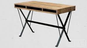 bureau metal et bois table metal bois table with table metal bois cool dining table