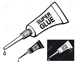 metal tube of super glue vector tube of glue tube with glue Stock Vector