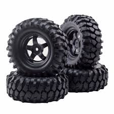 4pcs 12mm Hub Wheel Rim & Tires For 1/10 Off Road RC Rock Crawler ...