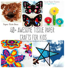 Over 40 Awesome Tissue Paper Crafts The Pinterested Parent