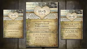 Rustic Wedding Invitation Decorated With Vintage Ivory Lace And Ornamental Love Heart Your Initials