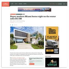 100 Miami Modern Curbed Waterfront Home Sabal Development