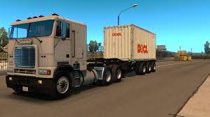 100 20 Ft Truck Container Ft 3 Axles V100 ATS Mods American Truck Simulator