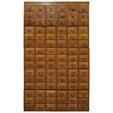 Tiger Oak Dresser Beveled Mirror by 1930s Stackable 90 Drawer Tiger Oak Card Catalog Filing Cabinet At